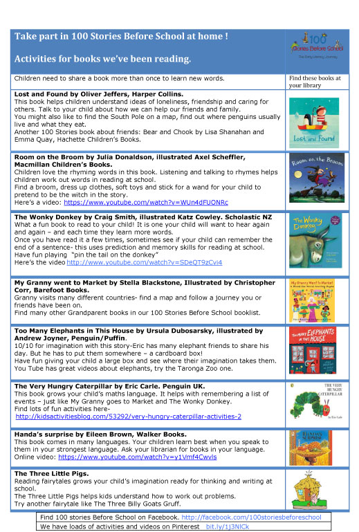 Book-activities-for-stories-from-100-Stories-Before-School