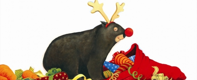Preschool Activities for Christmas wombat by Jackie French and Bruce Whatley from 100 Stories Before School Australian stories Christmas booklist, with some extra old favourites.