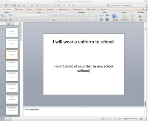My New School ppt template example from Transition to school website