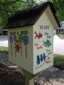 Dr Suess little free library Cincinnati OH